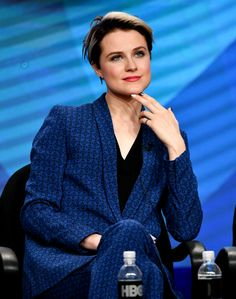 Evan Rachel Wood during the Westworld panel discussion at the HBO portion of the 2016 Summer TCA
