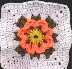 Blossom Crochet Square