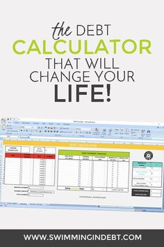 The FREE debt calculator that will change your life! It will help you decide how to pay off the debt.