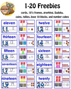 1-20-number-freebies-coins-tallies-cards-Sudoku-more