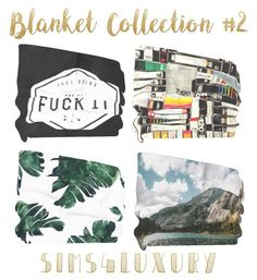 Sims 4 Luxury - Blanket Collection 2 for The Sims 4