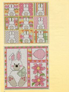 Cross-stitch Easter Bunnies, part 1 ... no color chart available, just use pattern chart as your color guide.. or choose your own colors...   ...   Gallery.ru / Фото #9 - 11 - tatasha