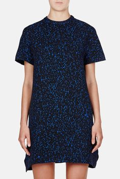 Proenza Schouler — Printed Viscose Crepe S/S Shift Dress