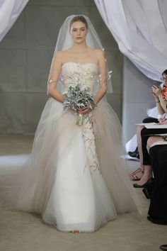 CAROLINA HERRERA BRIDAL FW12 NEW YORK 04/14/12 -- via One Lovely Day by project wedding. Gorgeous.