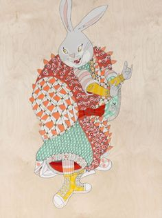 Hip hop/samurai inspired paintings by Ferris Plock: 'Carry On', a new exhibition by Ferris Plock