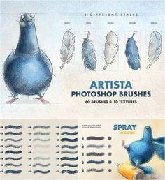 Texture Brushes Photoshop, Brosses Photoshop, Photoshop Illustrator, Illustrator Tutorials, Free Brushes For Photoshop, Digital Painting Tutorials, Furry Drawing, Brush Sets, Psp