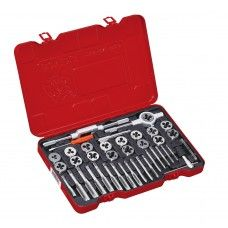 Commercial Tool> Mechanic Tool: 39 PC Tap & Die Set, Inch