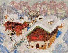 Alfons Walde - Sonniger Wintertag mit Blick auf Wilder Kaiser