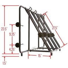Side view dimensions of the truck bike rack Truck Bed Bike Rack, Diy Bike Rack, Bike Holder, Bicycle Storage, Bicycle Rack, Bicycle Stand, Rack Velo, Navara D40, Tips