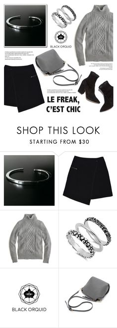 """""""Black Orquid"""" by helenevlacho ❤ liked on Polyvore featuring MARC CAIN, J.Crew and blackorquid"""