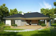 projekt NELA Village House Design, Village Houses, House Outside Design, Home Design 2017, Best Living Room Design, My House Plans, Design Case, Modern Kitchen Design, Building Plans
