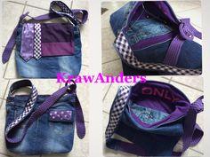 Taschen aus 100% Altkleidern in Kombination mit Krawatten - absolut upcycling