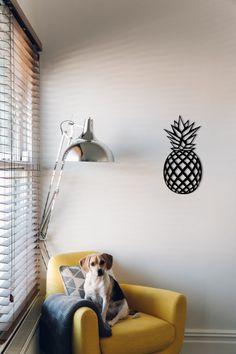 Metal Wall Art Geometric Pineapple, Home Decor, Metal Wall Decor, Wall hanging, Housewarming Gift, Kitchen wall decor, Farmhouse Decor