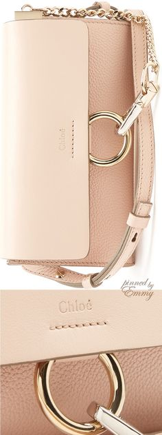 Brilliant Luxury by Emmy DE ♦Chloé Faye mini leather and suede cross-body bag