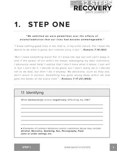 12 Step Worksheets Step Printables Aa Steps Worksheets Gozoneguide Thousands of , Aa Steps, Addiction Therapy, Substance Abuse Counseling, Addiction Recovery Quotes, Relapse Prevention, Therapy Worksheets, Printable Worksheets, Printables, Celebrate Recovery
