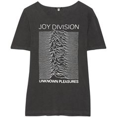 R13 Joy Division printed cotton-blend jersey T-shirt ($260) ❤ liked on Polyvore featuring tops, t-shirts, t shirt, blusas, charcoal, oversized tee, oversized t shirt, vintage t shirts, oversized tops and oversized vintage tees