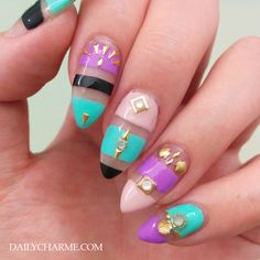 geometric shapes nail art