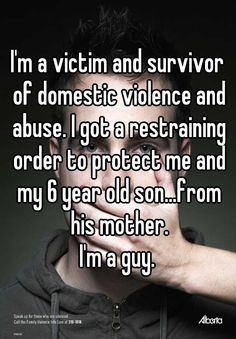 """""""My wife beats me but I stay quiet for the sake of our one-year-old."""" Confessions courtesy of Whisper. Men can be victimized too!"""