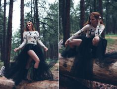 Michelle Herrick Photography, fashion photography, fall editorial, red head, tulle wrap skirt | makeup @Stephanie Neiheisel