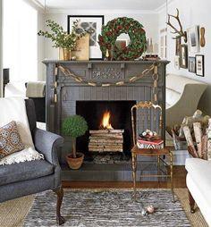 Mantel  Decorations : IDEAS &  INSPIRATIONS :Stylish Holiday Mantels, 15 Ways