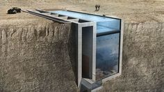 living on the edge: house over cliff in Aegean Sea