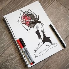 I have seen many variations of this picture and decided to input my own design onto her :) Rose Girl, Kawaii Chibi, Girly Tattoos, Geometric Art, Totoro, Sharpie, Art Girl, Create Yourself, Fanart