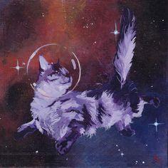 Space Cat Vi http://www.boredpanda.com/cats-in-space-bronwyn-schuster/