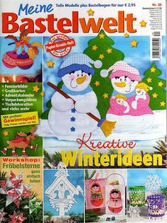 Bastelwelt - Angela Lakatos - Picasa Webalbumok Christmas Snowman, Christmas Crafts, Free Magazines, Toddler Rooms, Painted Books, Book Quilt, Tole Painting, Paper Cutting, Crafts To Make