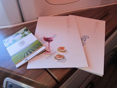 Cathay Pacific Menu First Class  Hong Kong to San Francisco