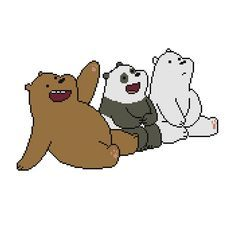 Free We Bare Bears Cross Stitch Pattern Grizz Panda and Ice Bear by Cross Stitch Quest