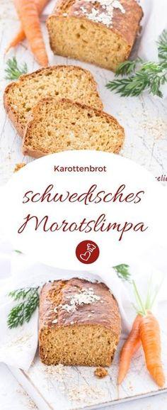Schwedische Rezepte, Brot-Rezepte, Oster-Rezepte: Morotslimpa aus Schweden - ein Rezept für schwedisches Karottenbrot von herzelieb. Nicht nur zu Weihnachten einfach sensationell gut. #brot #karotten #schweden #rezepte #herzelieb
