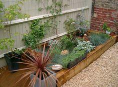 Sarah & Damian's garden project with railway sleepers