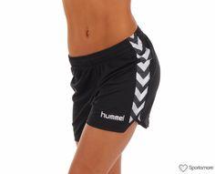 Hummel - Stay Authentic W Poly Shorts - Shorts - Svart - Dame | www.sportamore.no online | Sportamore.no – Mote på nett