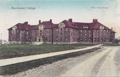 Men's Residence Macdonald College STE ANNE DE BELLEVUE Quebec 1907-15 Postcard | eBay