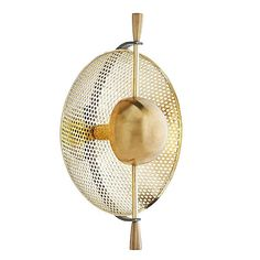 Vallance Wall Sconce by Arteriors - Color: Gold - Finish: Antique Brass - Candelabra Bulbs, Shop Lighting, Arteriors, Wall Art Lighting, Light, Sconces, Light Fixtures, Perforated Metal, Lbl Lighting