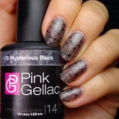Pink Gellac 176 Mysterious Black Gel-Nagellack via pinkgellac.de