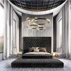 In this board you will find all the inspiration for your master bedroom design. Bedding, headboards, wall treatments and artwork all create a well put together master bedroom. Modern Master Bedroom, Master Bedroom Design, Contemporary Bedroom, Master Bathroom, Luxury Bedroom Design, Luxury Home Decor, Interior Decorating, Interior Design, Ikea Interior