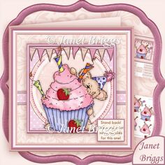 Stand Back We Need a Lot More Candles for This One Decoupage Kit - £1.20 : Instant Card Making Downloads