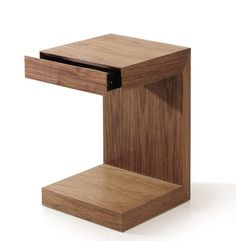 Small walnut end table - could be used as bedside table? £139