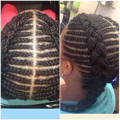 #fishbone #cornrow #blessed #beauty #battersea #blackwoman #blackhairstyles #cornrowhairstyle #twoplaits by hairbyblessedbeauty