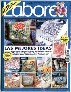 Revista *LABORES DEL HOGAR - Núm. 435 - Julio-Agosto 1994* -100 págs- Patrones y Esquemas | Vintage