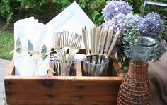 Tool box used for table setting