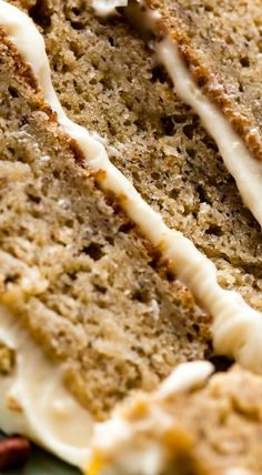 Banana Cake with Brown Butter Cream Cheese