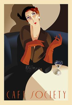 Cafe Society included the millionaires and the royals who supported the artists and writers in Paris starting in the 1920's