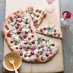 Rosemary Flatbread with Blue Cheese, Grapes and Honey // More Recipes with Rosemary: http://www.foodandwine.com/slideshows/rosemary #foodandwine
