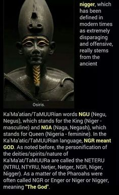 The original definition of the word nigger Black History Facts, Black Pride, My Black Is Beautiful, African American History, Knowledge Is Power, Ancient History, Ancient Egypt, World History, Black People