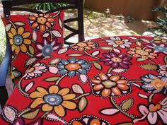 Red Floral outdoor Fabric - Google Search