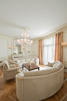 Renaissance Haussmannien - transitional - Family Room - Other Metro - Benlolo Architecte Designer