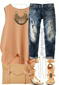 Love this, but I would skip the ripped jeans for nice new, crisp ones for a more polished look and maybe add a nice blazer.