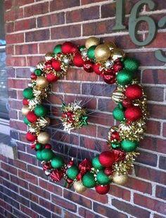 DIY Bike Wheel Christmas Wreath - DIY Ways to Recycle Bike Rims